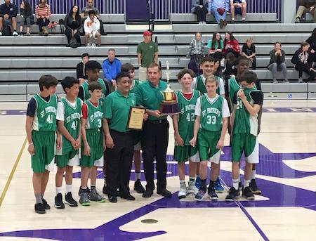 8th Grade Basketball Team San Diego Champions!