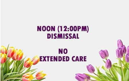 Noon Dismissal No Extended Care