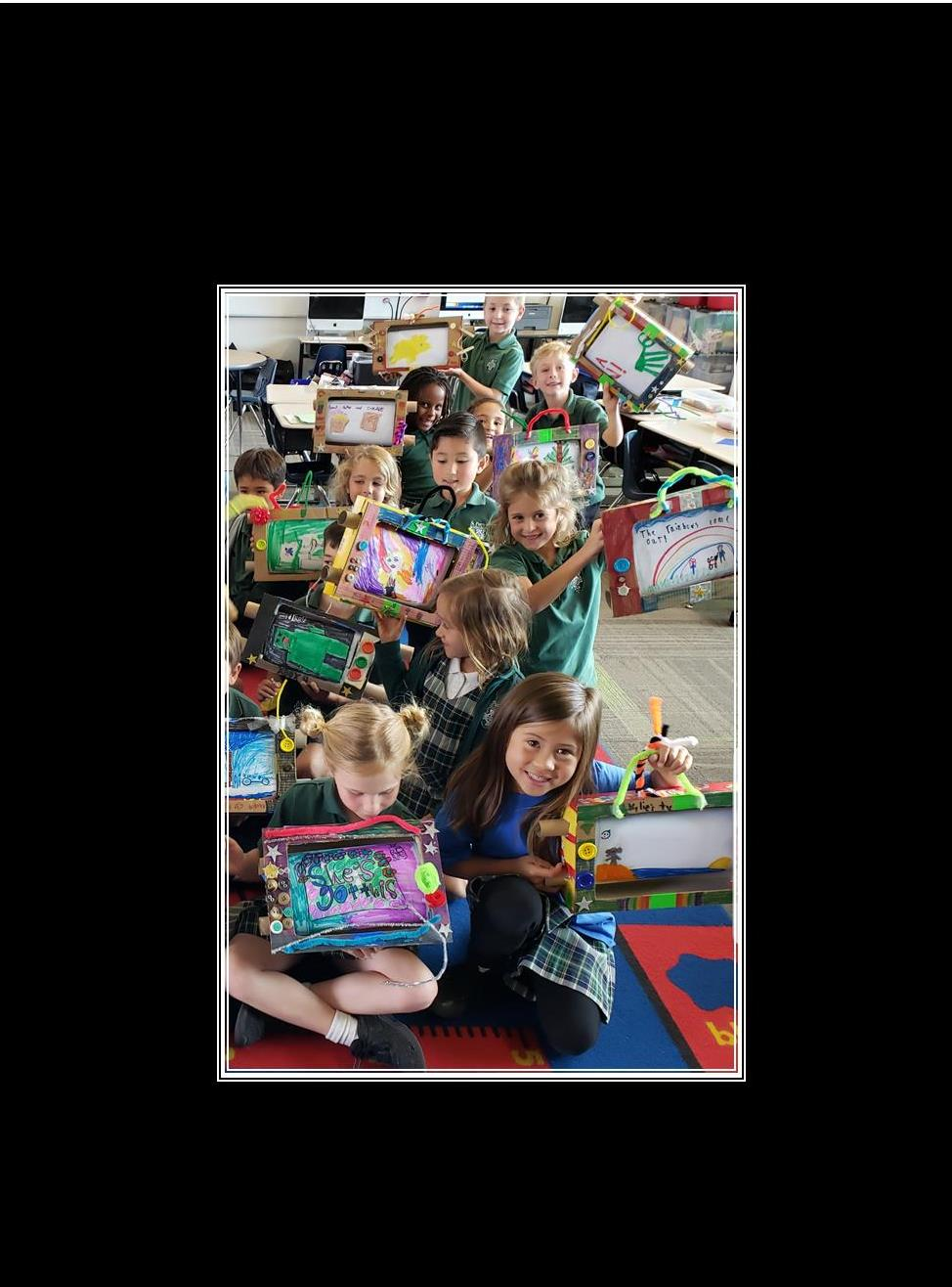 First Graders Build Moving Story Boxes