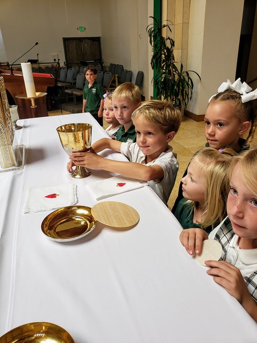 First Graders Tour the Church
