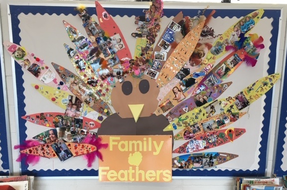 Kindergarten is Thankful for Family!