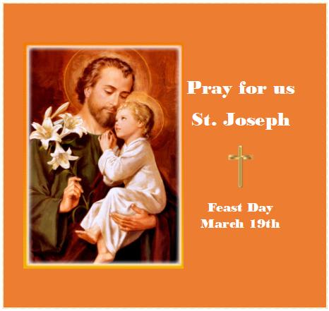St. Joseph Feast Day – March 19th