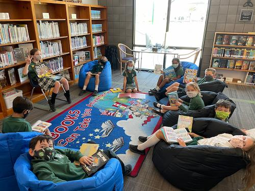 SCHOOL LIBRARY OPENED TODAY!