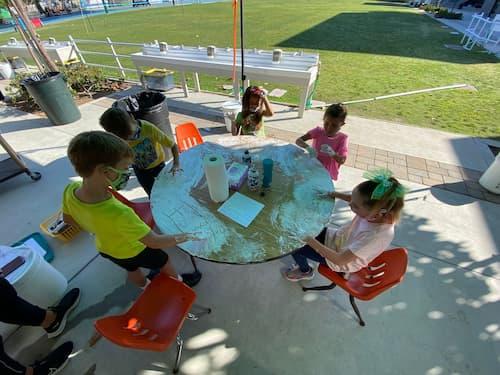 Foamy Fun in First Grade